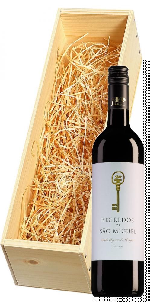 Wijnkist met Segredos de São Miguel Tinto