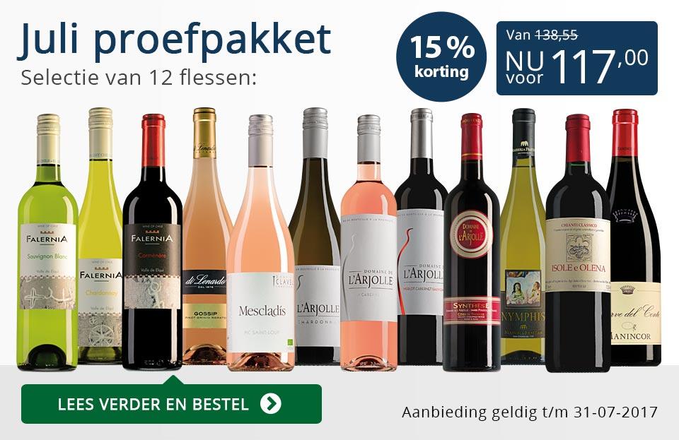 Proefpakket wijnbericht juli 2017 (117,00) - blauw
