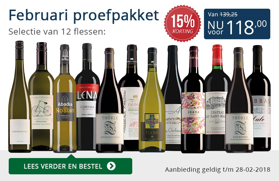 Proefpakket wijnbericht februari 2018 (118,00) - blauw