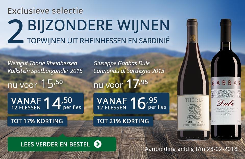 Exclusieve wijnen februari 2018 - blauw