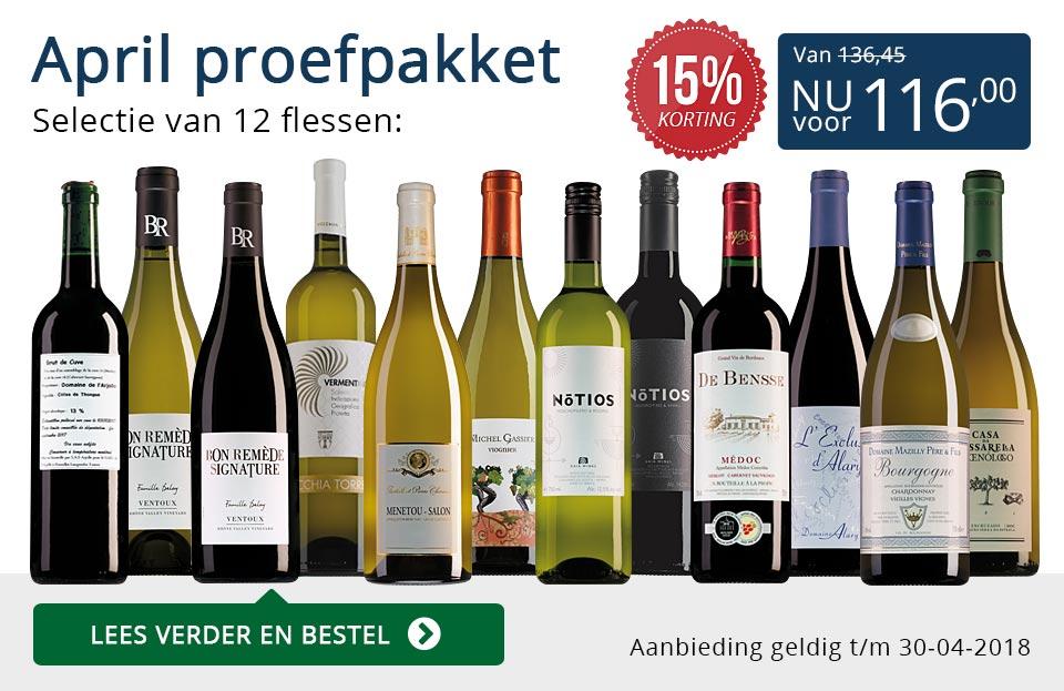 Proefpakket wijnbericht april 2018 (116,00) - blauw