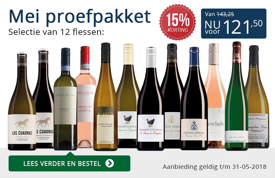 Proefpakket wijnbericht mei 2018 (121,50) - blauw