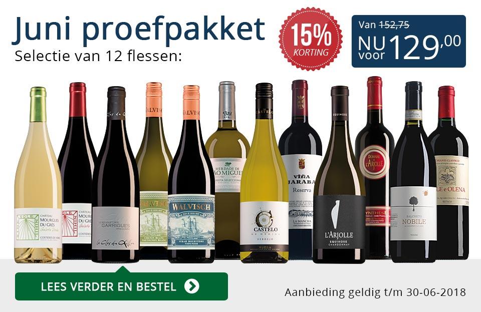 Proefpakket wijnbericht juni 2018 (129,00) - blauw