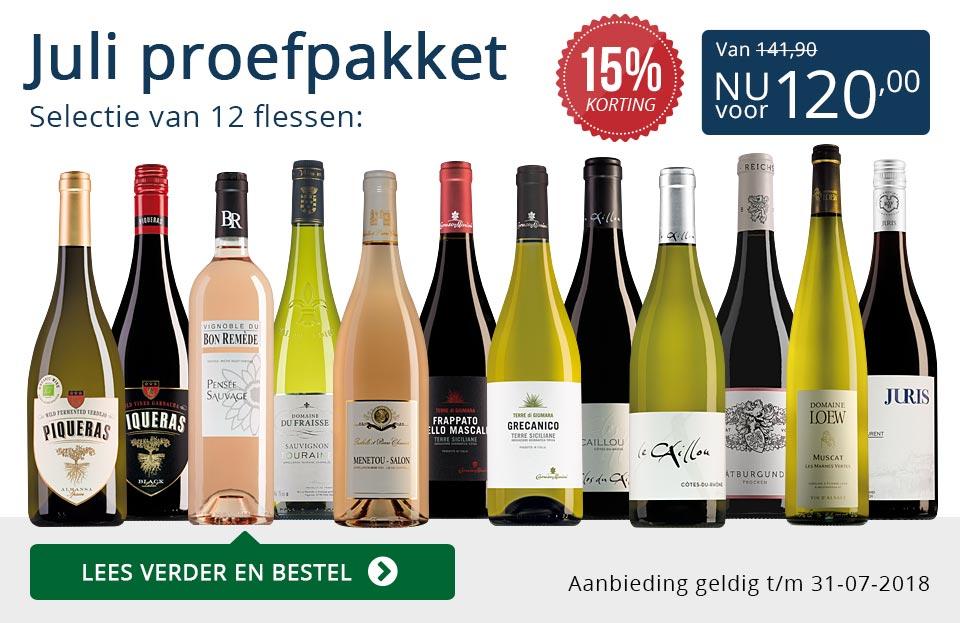 Proefpakket wijnbericht juli 2018 (120,00) - blauw