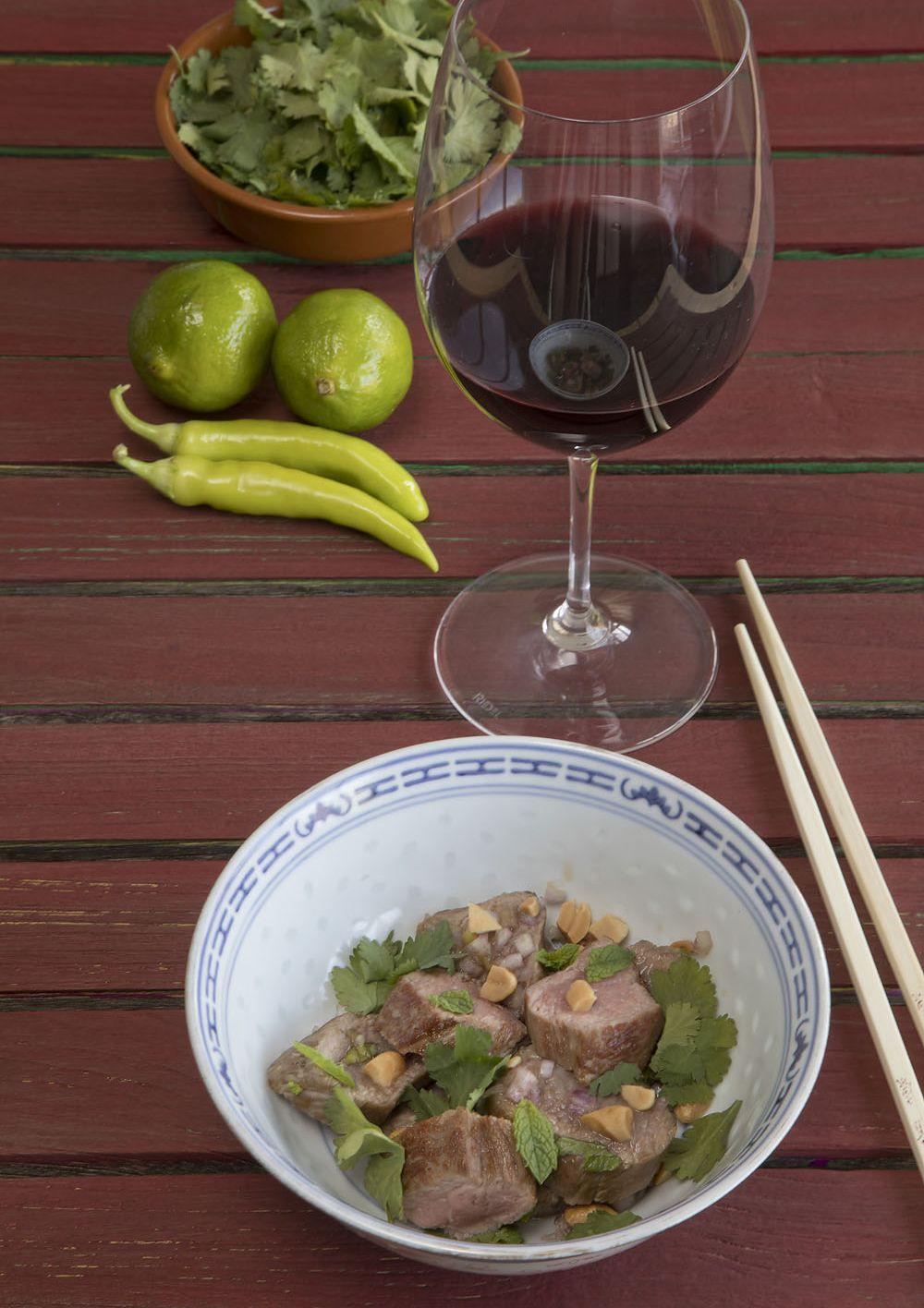 Thaise salade met lam