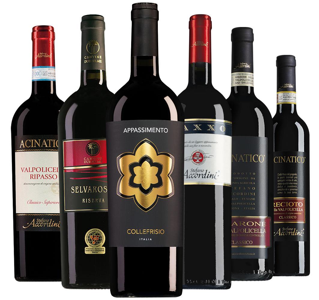 Proefpakket Wijnspecial appassimento-wijnen (6 flessen)