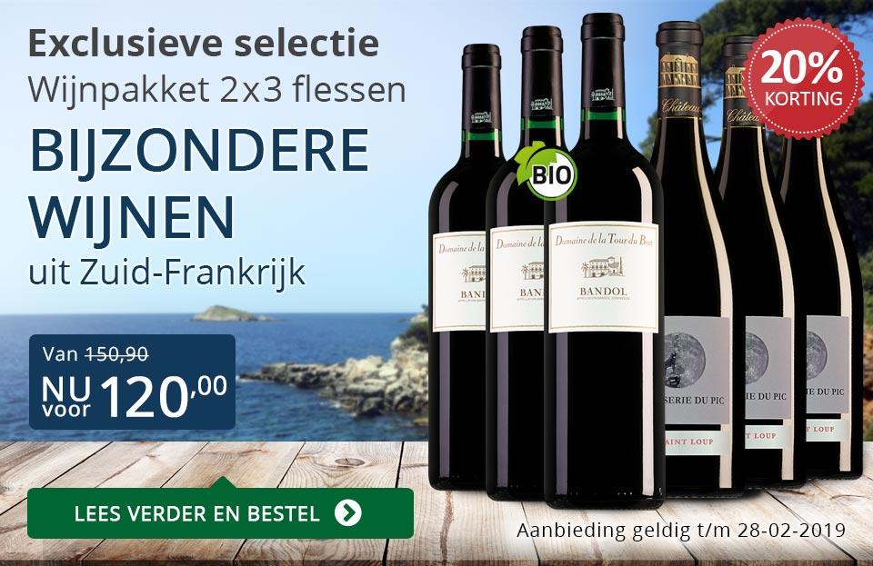 Wijnpakket bijzondere wijnen februari 2019 (120,00) - blauw