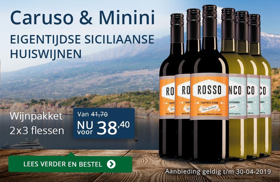 Wijnpakket Caruso & Mininiapril 2019 (38,40)- blauw