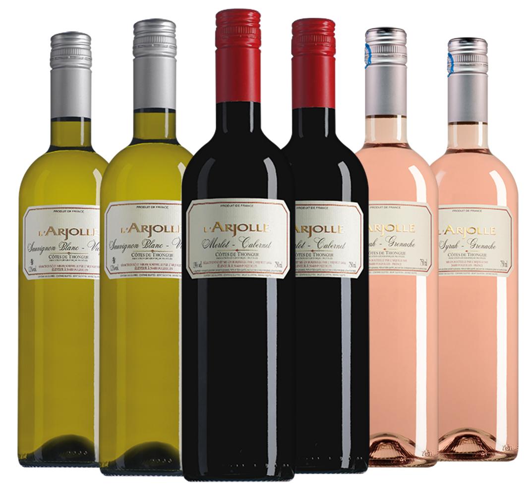 Wijnpakket L'Arjolle (3x2 flessen)