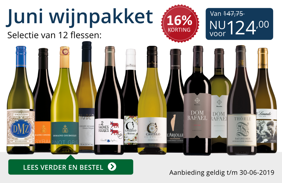 Wijnpakket wijnbericht juni 2019 (124,00) - blauw