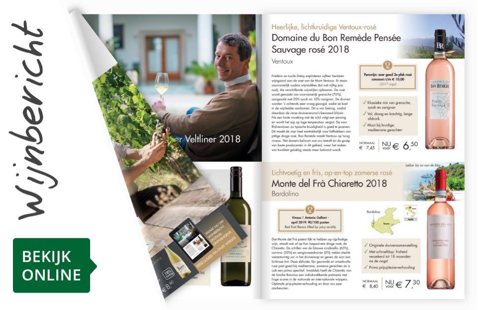 Online wijnbericht juli 2019