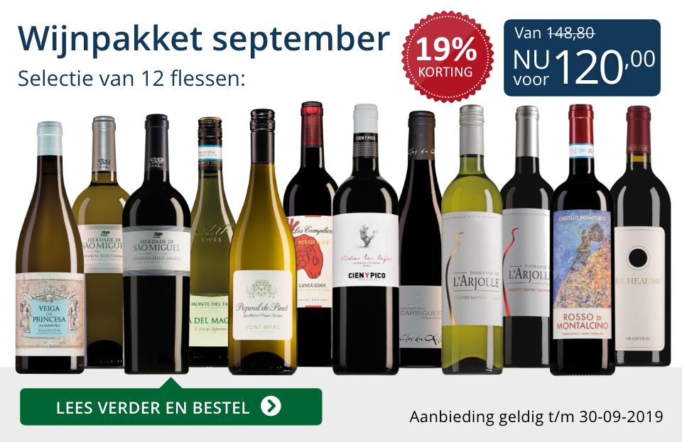 Wijnpakket wijnbericht september 2019 (120,00)- blauw