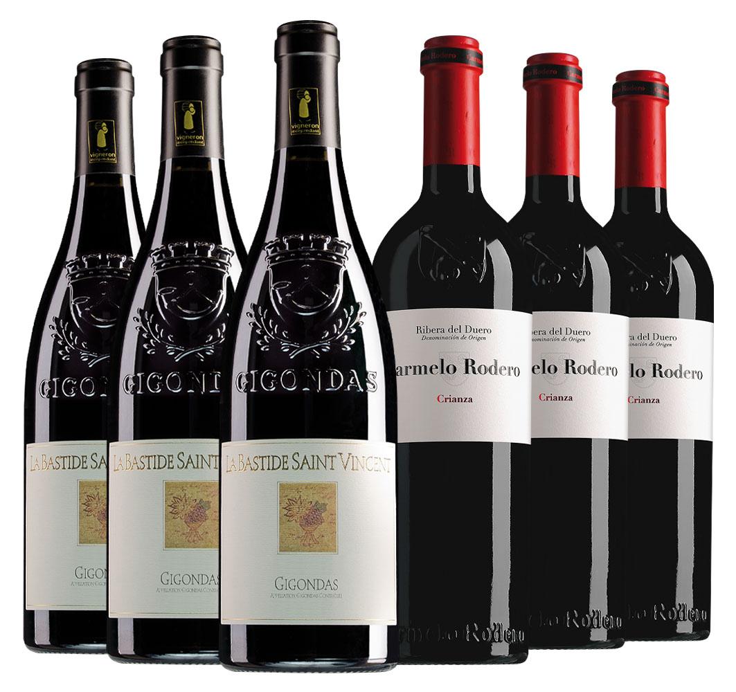 Wijnpakket bijzondere wijnen februari (2x3 flessen)