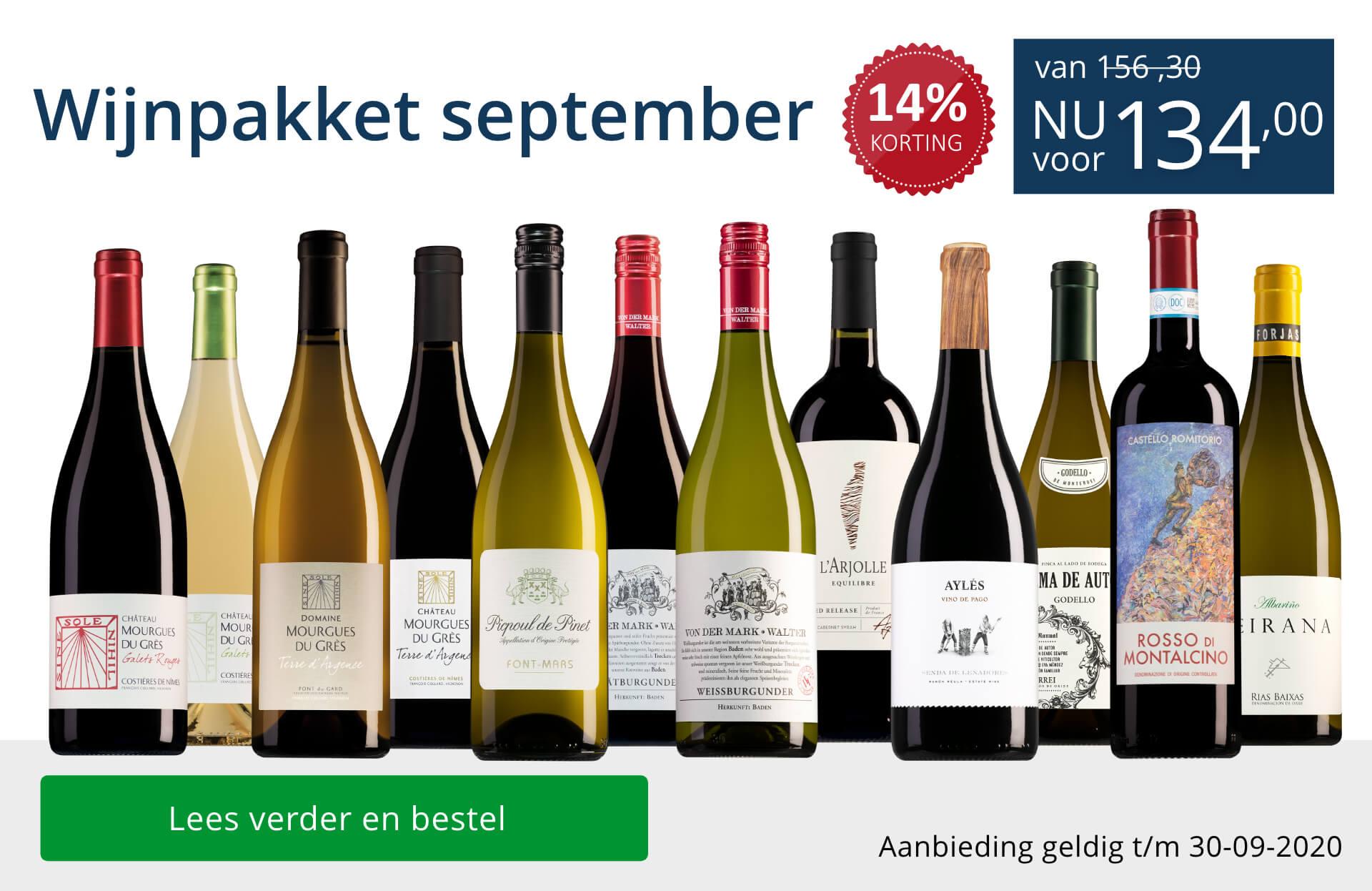Wijnpakket wijnbericht september 2020 (134,00) - blauw