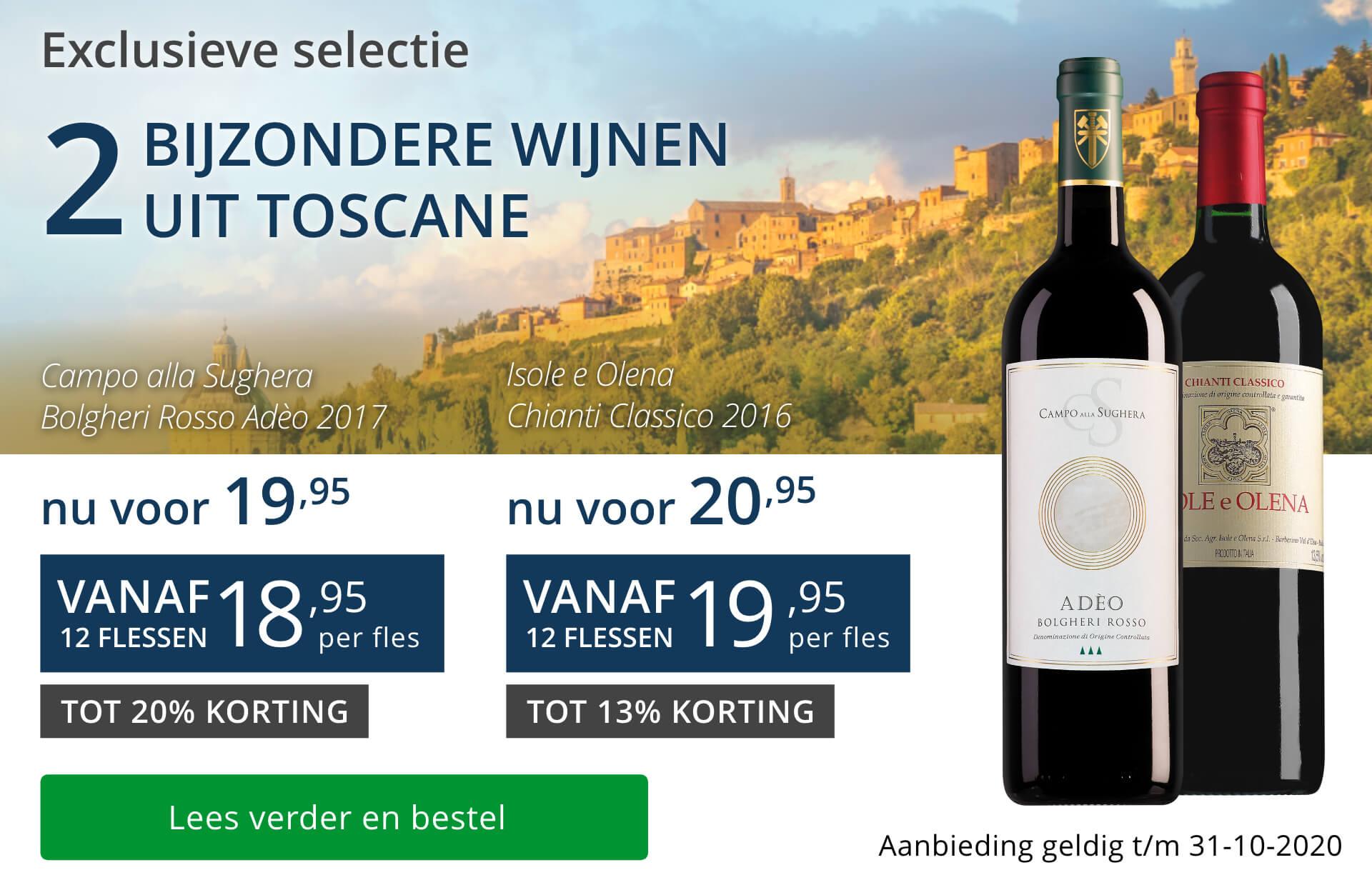 Twee bijzondere wijnen oktober 2020 - blauw